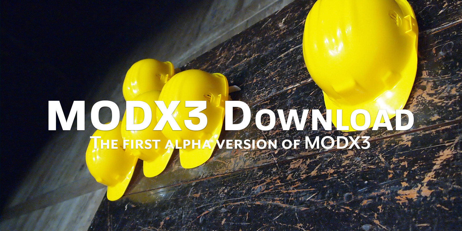 The first alpha of MODX3 is available (+ the end of weekly updates)