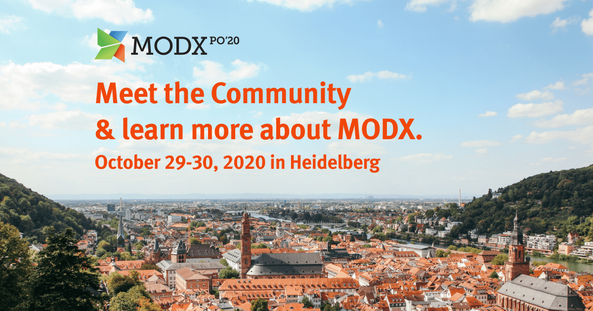 MODXpo 2020 postponed to October