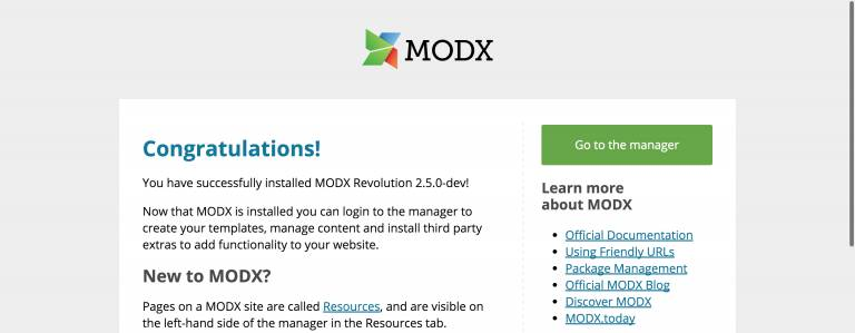 What's new in MODX 2.5?