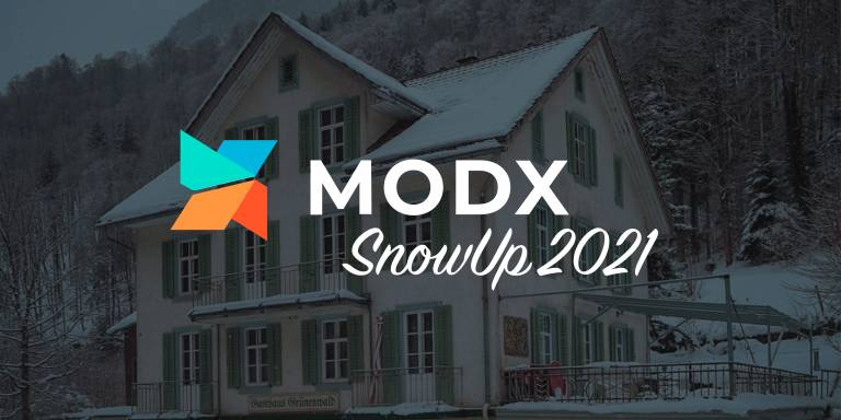 Sign up for the MODX Digital SnowUp Event on March 4th and 5th, 2021!